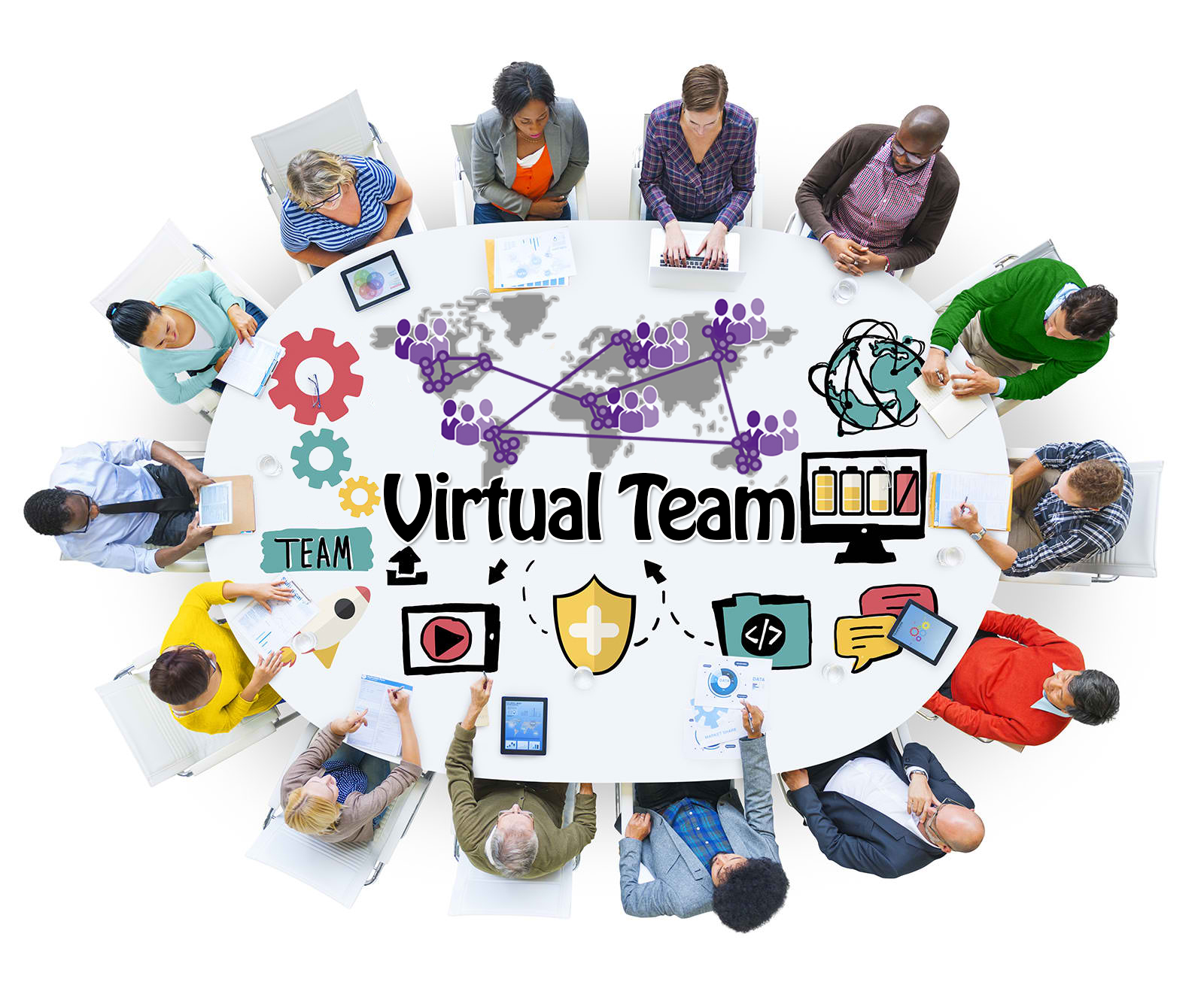 working in a virtual team Looking for tips on how to make your virtual teams successful check out these teamwork tips.